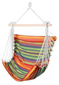 Bahia, mit stabilem Tragstab an Aufhängeseil mit Öse, bunt gestreift, Baumwolle, 1 St
