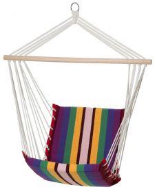 Amalfi, mit stabilem Tragstab an Aufhängeseil mit Öse, bunt gestreift, Baumwollgewebe, 1 St