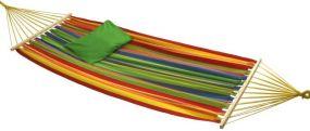 Bahia, mit starkem Holzspreizstab, bunt gestreift, Baumwolle, 1 St