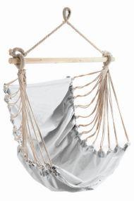 Fashion White, mit stabilem Tragstab an Aufhängeseil mit Öse, weiß, Baumwolle, 1 St