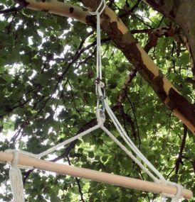 Aufhänge-Set Seil, mit Karabinerhaken, Stahl