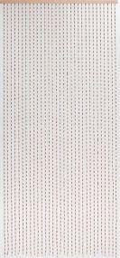 Dehli, Holzperlen und -stäbchen, 31 Stränge, natur, handgearbeitet, auf Leiste