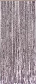 Bead, Polyester, 94 Stränge, dunkelgrau, handgearbeitet, auf Leiste