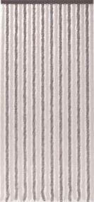 Flauschi, 21 Stränge, silber-weiß, flauschige Stränge aus künstlicher Chenille