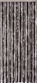 Flauschi, 21 Stränge, schwarz-grau, flauschige Stränge aus künstlicher Chenille