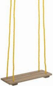 Brettschaukel, Seile längenverstellbar bis 170 cm, mit verzinkter Aufhängung