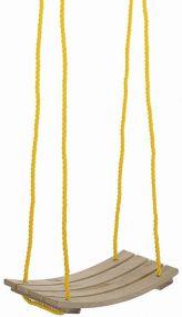 Brettschaukel, gebogen, Seile längenverstellbar bis 170 cm, mit verzinkter Aufhängung