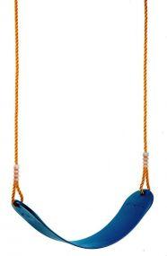 Flexi-Schaukel, Seile längenverstellbar bis 200 cm, mit verzinkter Aufhängung, blau