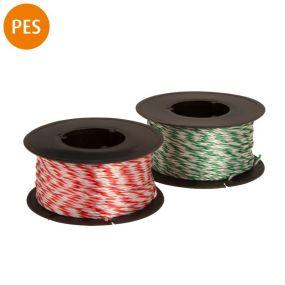 Maurerschnur, Polyester, 1,3 mm, 40 m, rot-weiß / grün-weiß, 1 St