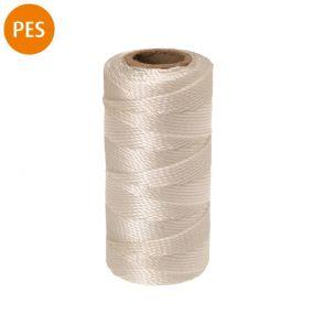 Maurerschnur, Polyester, 3-schäftig gedreht, 1,1 mm, 100 m, weiß, 1 St
