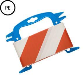 Absperrband, 100 m, 80 mm, Polyethylen, rot-weiß, 1 St