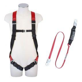 Absturzsicherungs-Set Gurt, Auffanggurt (DIN EN 361), verstellbare Schulter- u. Beingurte, 27 mm, Po