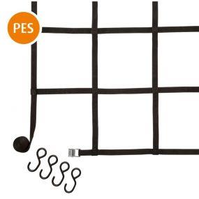 Gurt-Netz, 90 cm, 90 cm, Polyester, 150 daN (kg), 4 S-Haken, PVC-beschichetet, 1 St
