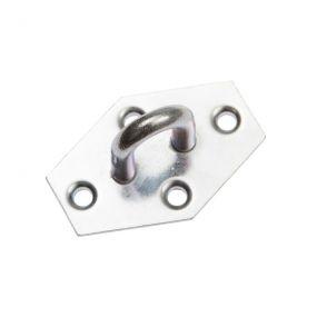 Augplatte, Stahl, Zink, 6-eckig, 4,8 mm, 1 St
