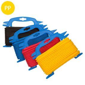 Seil, 8-fach geflochten, Polypropylen, multifil, 6 mm, sortiert, 15 m, 5 St