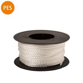 Maurerschnur, Polyester, 3-schäftig gedreht, 1,1 mm, 40 m, weiß, 1 St